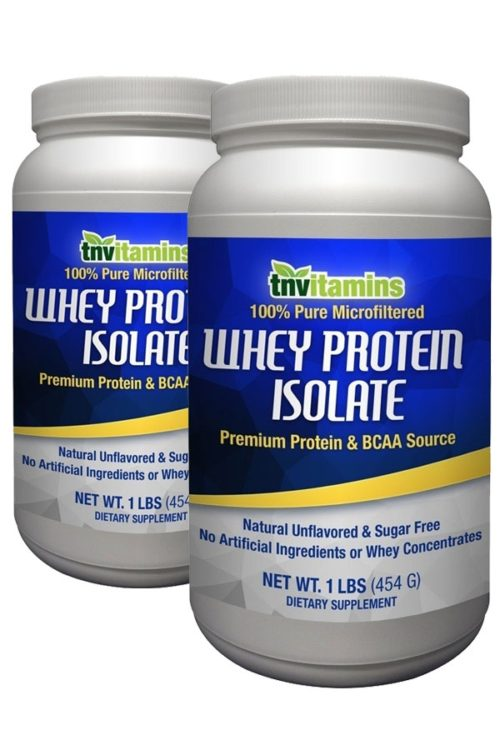 100% Pure Whey Protein Isolate - Unflavored - 2 x 1 lb Powder