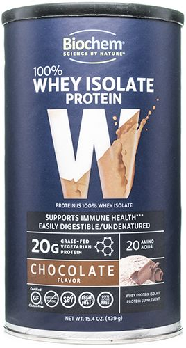 100% Whey Protein Chocolate 15.4 oz, powder by Biochem Sports