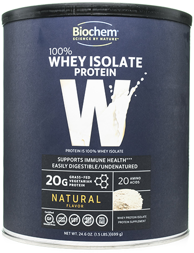 100% Whey Protein Natural Flavor 24.6 oz, powder by Biochem Sports