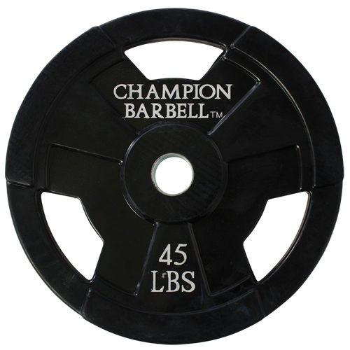 1272604 45 lbs Olympic Rubber Coated Grip Plate
