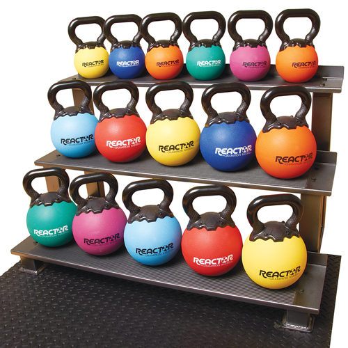 1361780 8 in. Rubber Kettlebells - 16 lbs