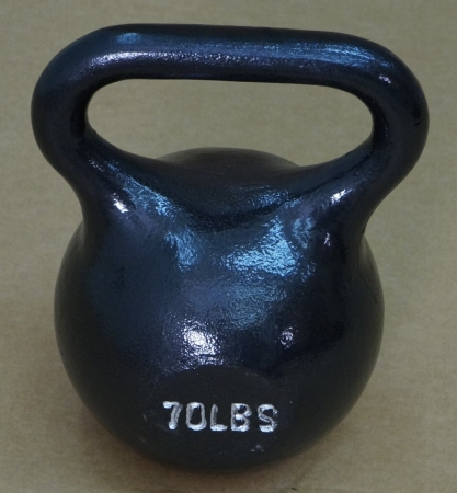 15170 Single Kettlebell, Black - 70 lbs