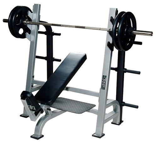 54038 Olympic Incline Bench with Gun Racks, White