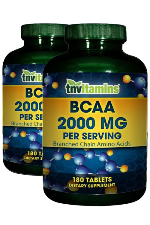 BCAA 2000 Branched Chain Amino Acids - 2 x 180 Tablets