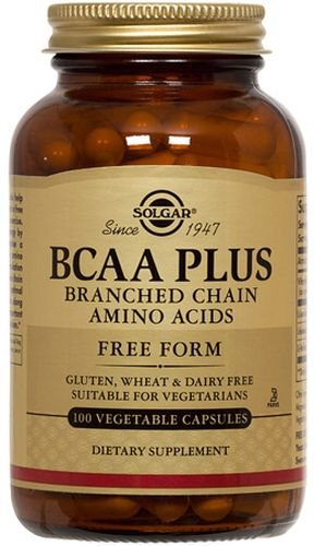 BCAA Plus 100 Vegetable Capsules by Solgar