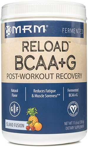 BCAA plus G Reload Natural Island Fusion 11.6 oz, powder by Metabolic Response Modifier