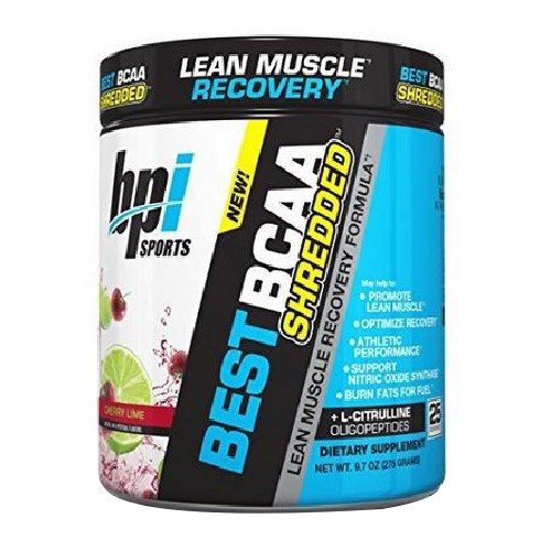 Best BCAA Shredded Cherry Lime 25 Servings by bpi