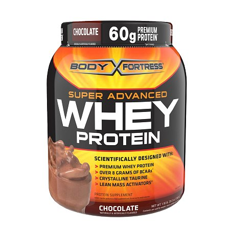 Body Fortress Super Advanced Whey Protein Powder Chocolate - 1.95 lbs