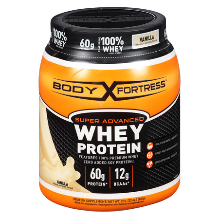 Body Fortress Super Advanced Whey Protein Supplement Powder Vanilla - 31.2 oz.