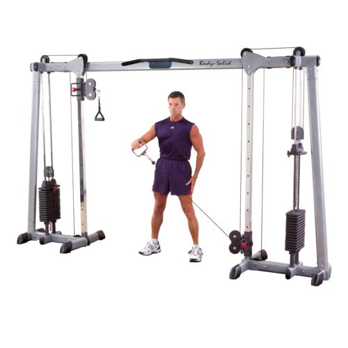 Body-Solid 638448002241 Deluxe Cable Crossover - 160 lbs Weight Stacks