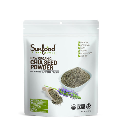 Chia Seed Powder, 1lb, Organic, Raw