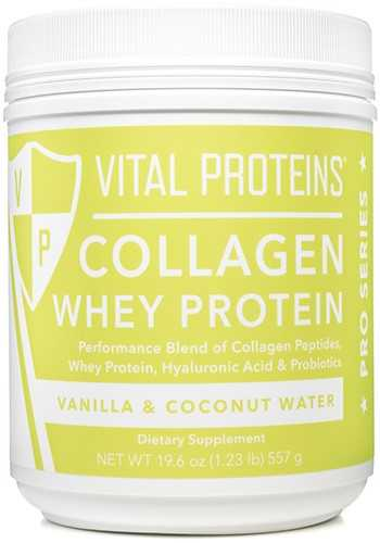 Collagen Whey Vanilla and Coconut Water 19.6 oz, powder by Vital Proteins