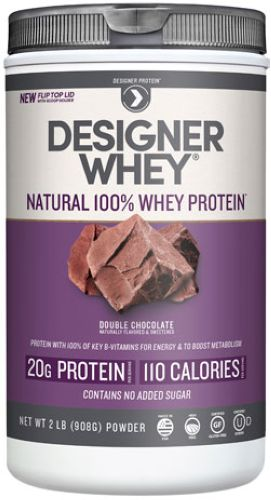Designer Whey Protein Powder Double Chocolate 2 lbs, powder by Designer Whey