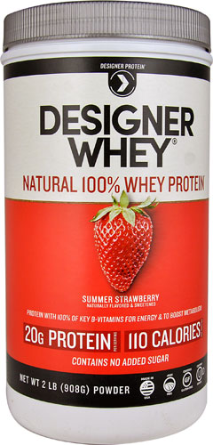 Designer Whey Protein Powder Summer Strawberry 2 lbs, powder by Designer Whey