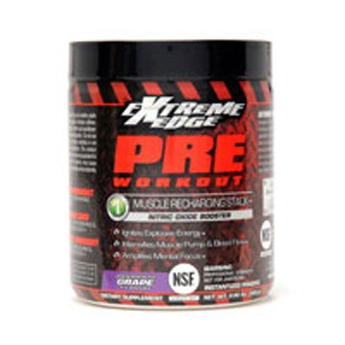 Extreme Edge Pre Workout Formula Vigorous Grape Flavor .66 lbs by Bluebonnet Nutrition