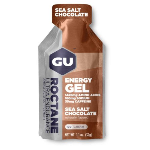 GU Roctane Energy Gel 24 Pack Nutrition Sea Salt Chocolate