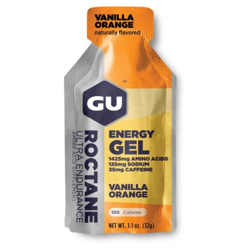 GU Roctane Energy Gel 24 Pack Nutrition Vanilla Orange