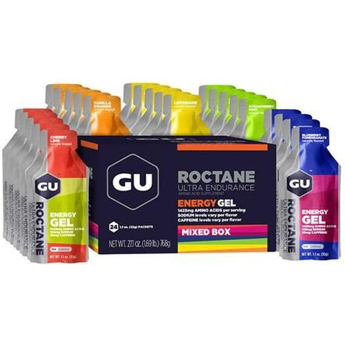 GU Roctane Energy Gel Mixed Flavors 24 Pack Nutrition