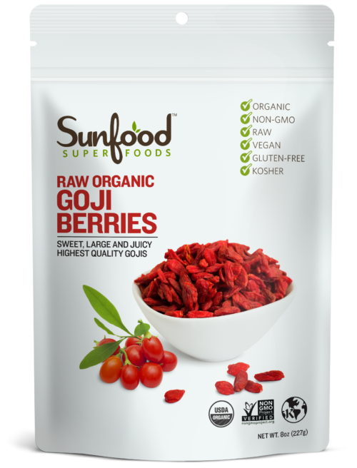 Goji Berries, 8oz, Organic