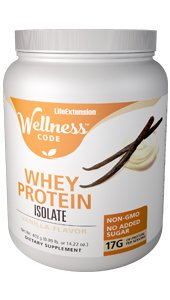 Life Extension Wellness Code® Whey Protein Isolate, Vanilla, 14.22 oz