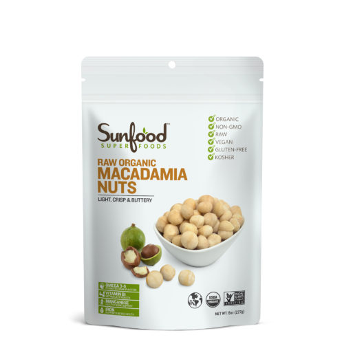 Macadamia Nuts, 8oz, Organic, Raw