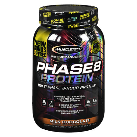 Muscletech Phase 8 Protein Milk Chocolate - 40 oz.