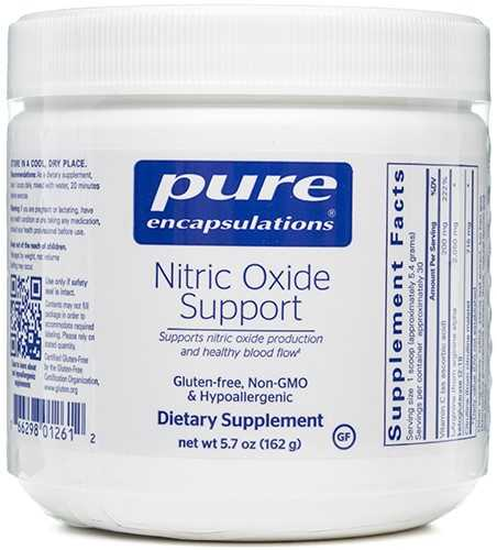 Nitric Oxide Support 162 grams, powder by Pure Encapsulations
