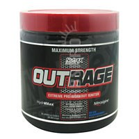 OUTRAGE Blue Raspberry 30 serving by Nutrex Research