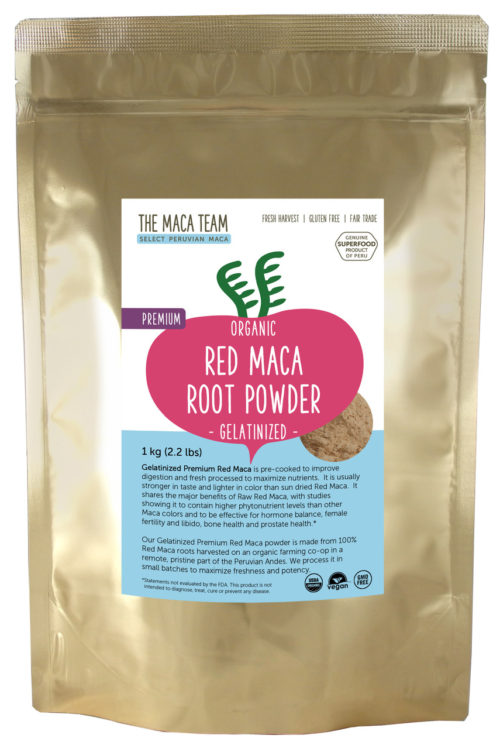 Organic Gelatinized Premium Red Maca Powder - 1 kg