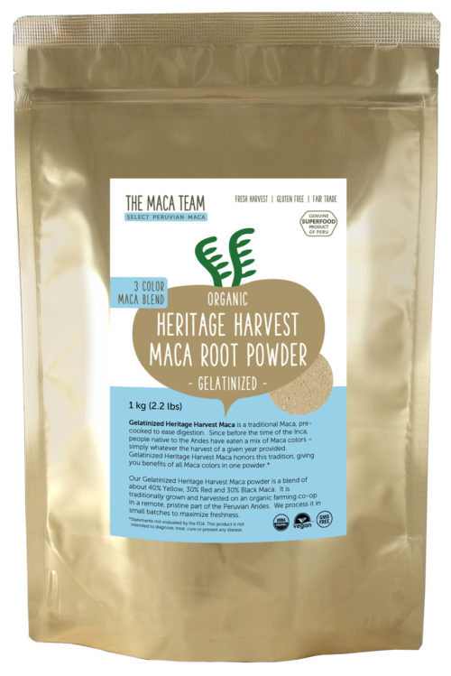 Organic Gelatinized Sundried 3 Color Maca Powder - 1 kg