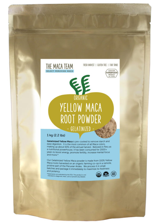 Organic Gelatinized Sundried Yellow Maca Powder 1 kg