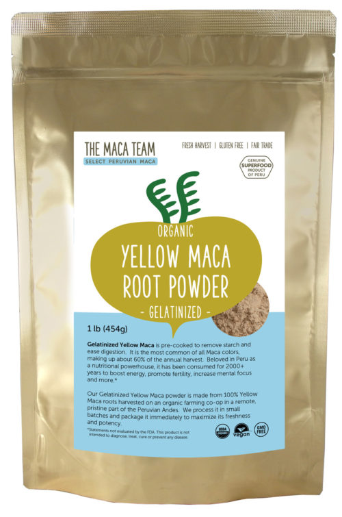 Organic Gelatinized Sundried Yellow Maca Powder 1 lb