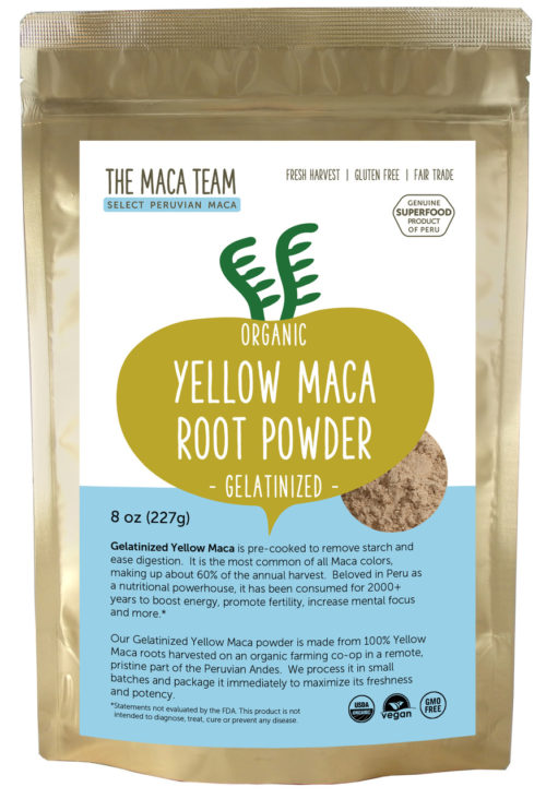 Organic Gelatinized Sundried Yellow Maca Powder 8 oz