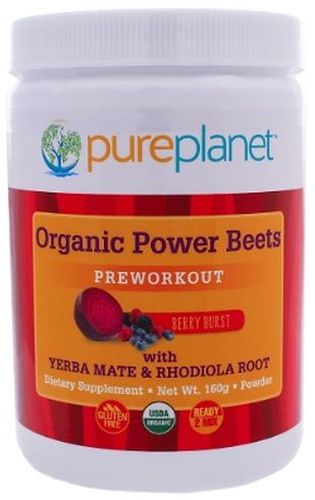 Organic Power Beets Pre-WorkOut 160 grams, powder by Pure Planet