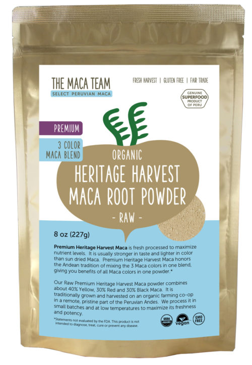 Organic Raw Premium 3 Color Maca Powder 8 oz