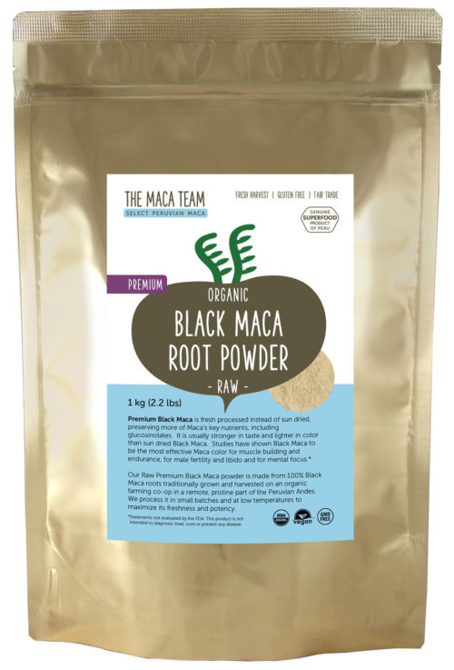 Organic Raw Premium Black Maca Powder 1 kg