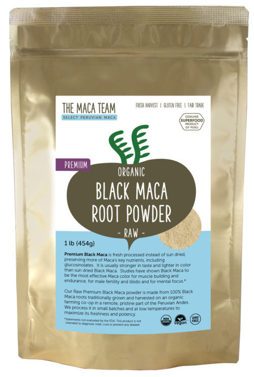 Organic Raw Premium Black Maca Powder 1 lb