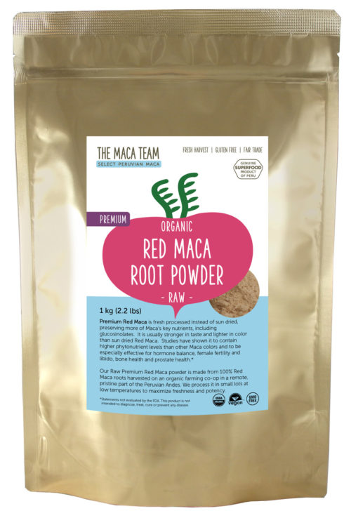 Organic Raw Premium Red Maca Powder 1 kg