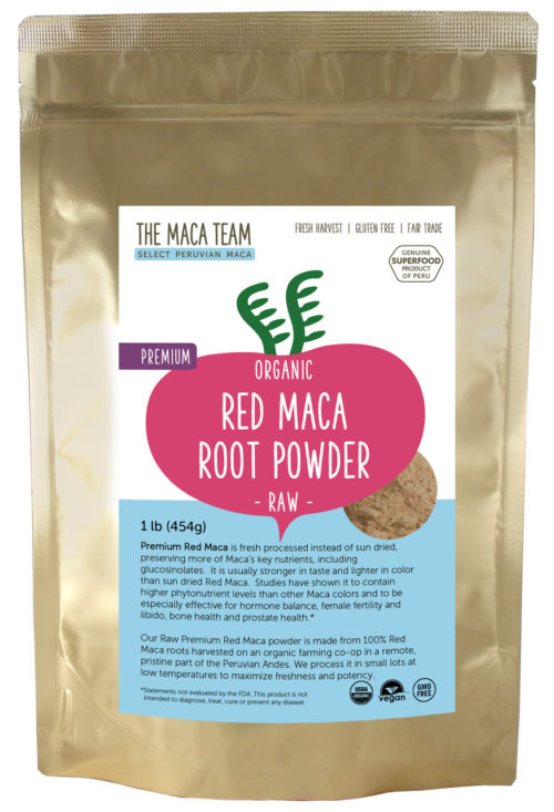Organic Raw Premium Red Maca Powder 1 lb