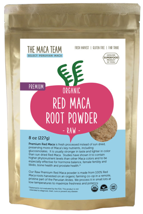 Organic Raw Premium Red Maca Powder 8 oz