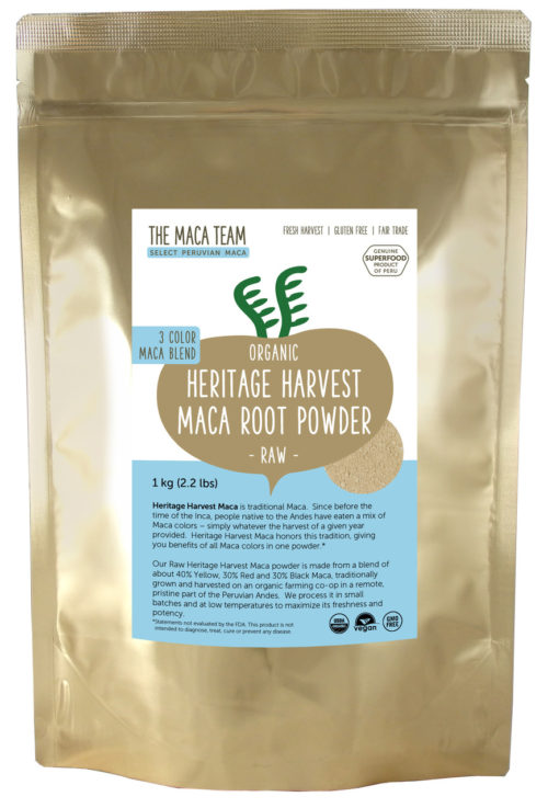 Organic Raw Sundried 3 Color Maca Powder 1 kg