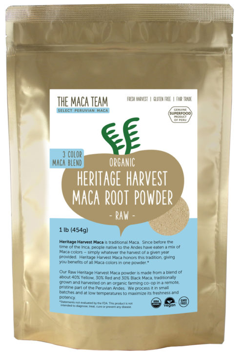 Organic Raw Sundried 3 Color Maca Powder 1lb