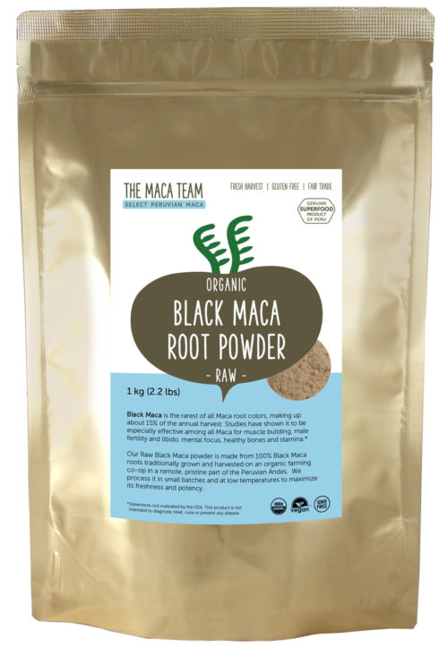 Organic Raw Sundried Black Maca Powder 1 kg