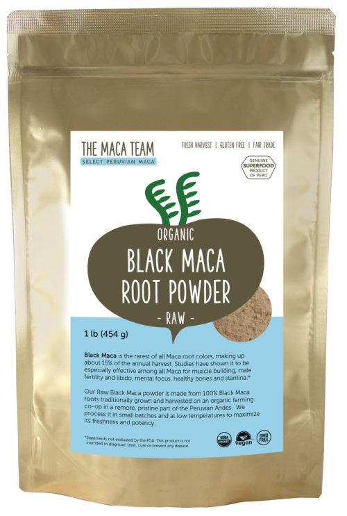 Organic Raw Sundried Black Maca Powder 1lb