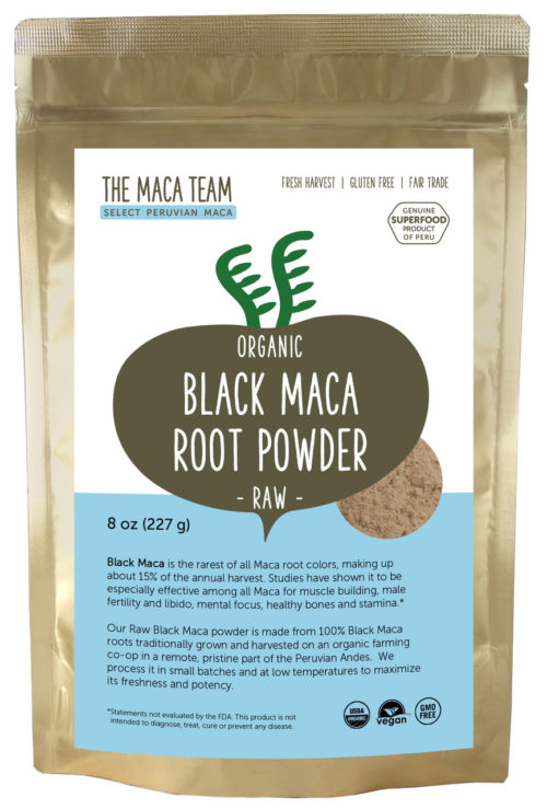 Organic Raw Sundried Black Maca Powder 8oz