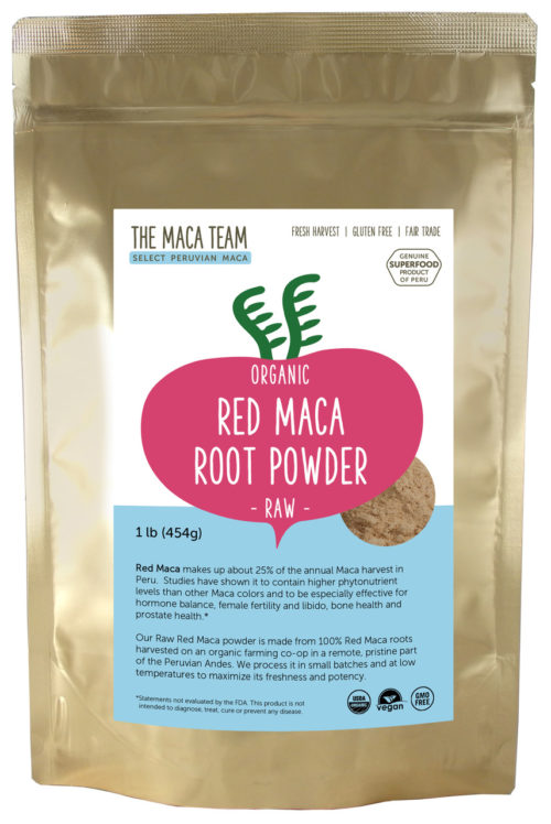 Organic Raw Sundried Red Maca Powder 1 lb