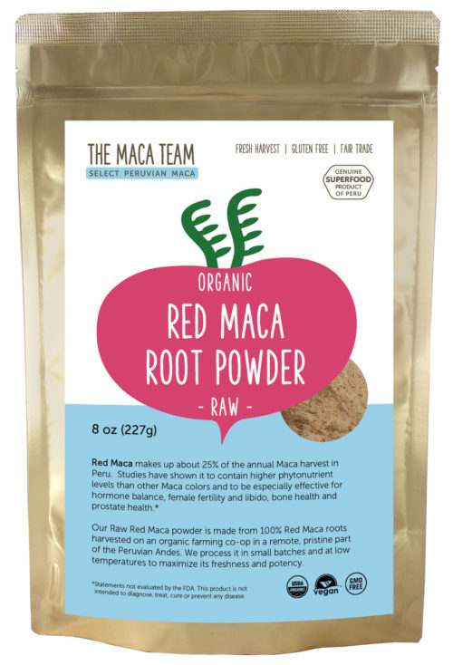 Organic Raw Sundried Red Maca Powder 8 oz