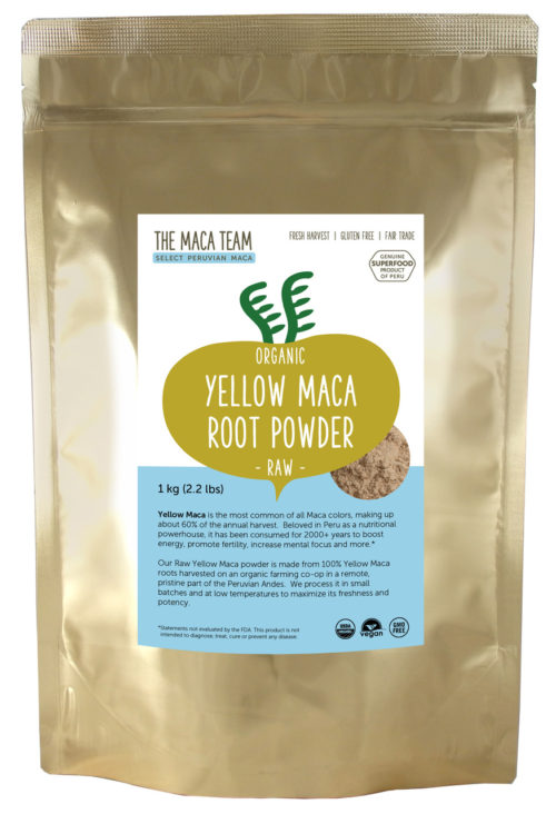 Organic Raw Sundried Yellow Maca Powder 1kg