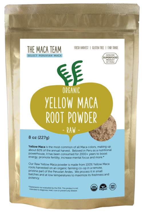 Organic Raw Sundried Yellow Maca Powder 8oz