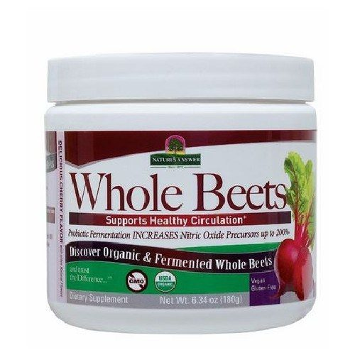 Organic & Fermented Whole Beets Powder 6.34 Oz by Nature's Answer